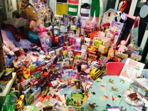 Donations at East Ardsley Drop off point Cash for Kids - Childminders Buttercup Lane