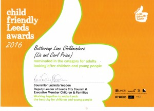 Child frinedly leeds looking after children and young people awards 2016