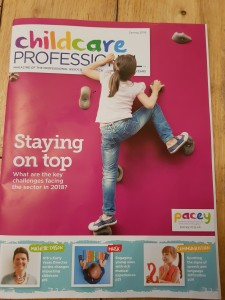 Front Cover of Spring 2018 edition of Childcare Professional Magazine